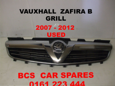 VAUXHALL   ZAFIRA B FRONT GRILL  INC  CHROME + BADGE     2006 - 2012    USED